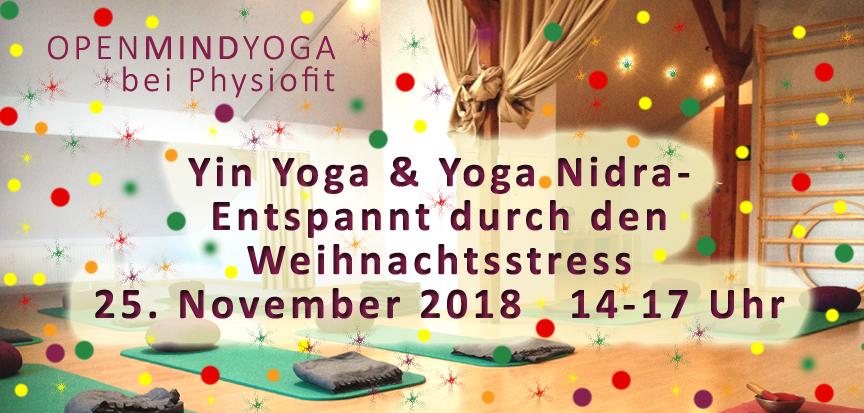 OPENMINDYOGA, Kerstin Hilgers, physiofit sülfeld, Yinyoga und Yoga Nidra am 25.11.2018