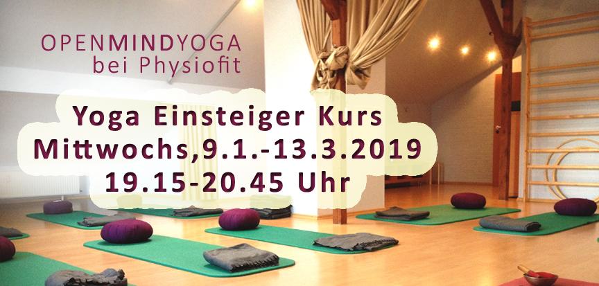 OPENMINDYOGA, Kerstin Hilgers, Yoga Einsteigerkurs bei Physiofit Sülfeld vom 9.1.-13.3.2019