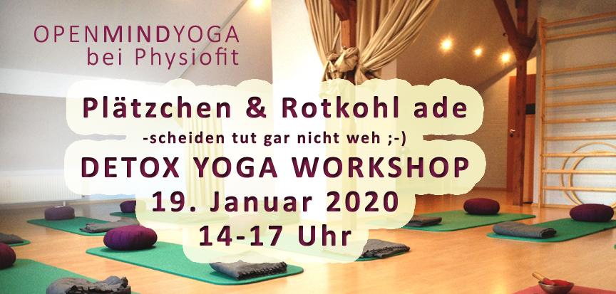 OPENMINDYOGA DETOX YOGA WORKSHOP bei Physiofit Sülfeld, Am Markt 1