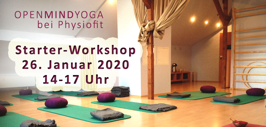 OPENMINDYOGA Starter Workshop am 26.1.2020 von 14-17 Uhr, Physiofit Sülfeld, Am Markt 1